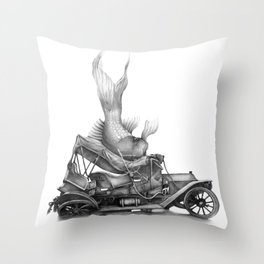 In which a goldfish spoils an outing Throw Pillow