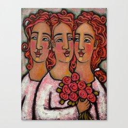 Trio Bridesmaids Canvas Print