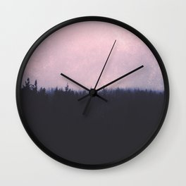 Seamless forest Wall Clock