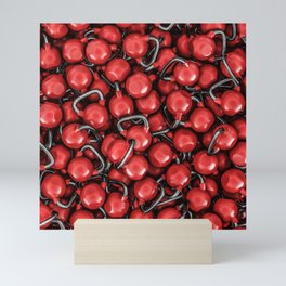 Kettlebells RED Mini Art Print