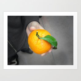 california orange Art Print