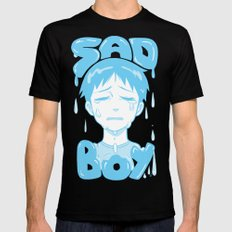SAD BOY Mens Fitted Tee SMALL Black
