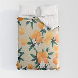 Orange Twist Flower Vibes #9 #tropical #fruit #decor #art #society6 Comforters