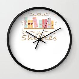 Bookworms Take Shelfies Reading Lover Wall Clock