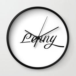 Name Lenny Wall Clock