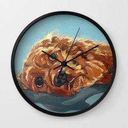 Newton the Lounging Cocker Spaniel Wall Clock