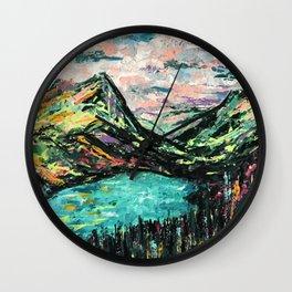 Mountain Escape Wall Clock
