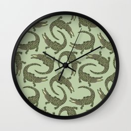 Crocodiles (Camo Palette) Wall Clock