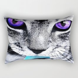 Purple eyes Cat Rectangular Pillow