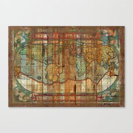 Antique World Canvas Print