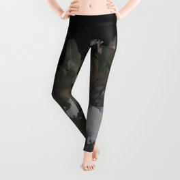 Iceland Map Low Poly Style Wanderlust Leggings