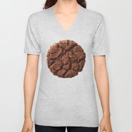 Dark chocolate cookie Unisex V-Neck