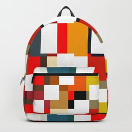 multicolored spatial geometric shellycoat Backpack