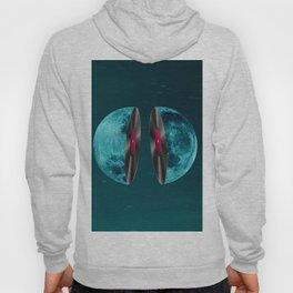 Moon and vinyl Hoody