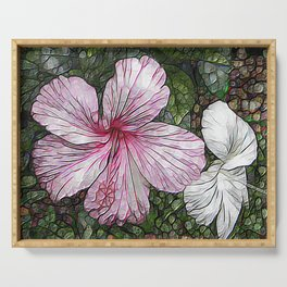 Fabulous hibiscus Serving Tray