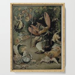 """""""The School of Fish"""" by Henry Clayton Hopkins 1920 Serving Tray"""