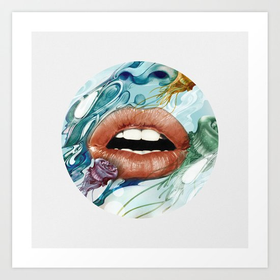 Looking Glass Art Print