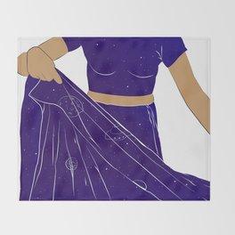Sari of Universe Throw Blanket