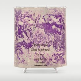 The Master's Butterfly Shower Curtain