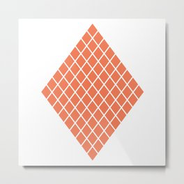Geometric shape t-shirts & prints: Coral Diamond Rhombus (Rhom x Rhom) Multiple colours available... Metal Print
