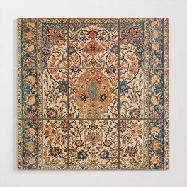 Isfahan Antique Central Persian Carpet Print Wood Wall Art
