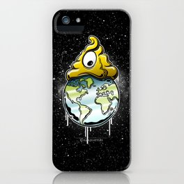 shit rules the world iPhone Case