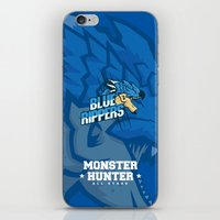 monster hunter iPhone & iPod Skins featuring Monster Hunter All Stars - Blue Rippers by Bleached ink