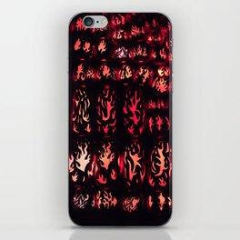Wall of Flame iPhone Skin