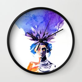 My Purple Hat Wall Clock