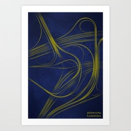 40.708N 74.181W Art Print