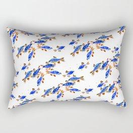 Pearl Danio Fish, Blue red aquatic design decor Rectangular Pillow