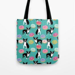 Boston Terrier donuts cute gifts for pure breed dog lover boston terriers owners Tote Bag