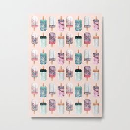 Summer and popsicles Metal Print