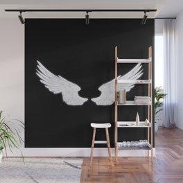 White Angel Wings Wall Mural