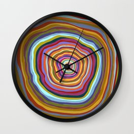 Tree Rings Wall Clock