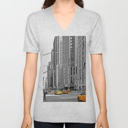 NYC - Yellow Cabs - Music Unisex V-Neck