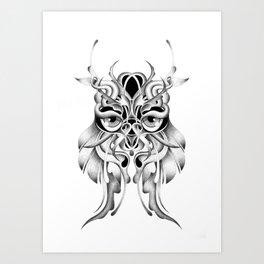 GRAPHITE OWL Art Print