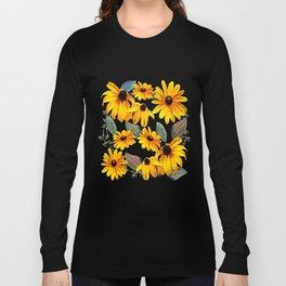 Black-eyed Susan Pattern Long Sleeve T-shirt