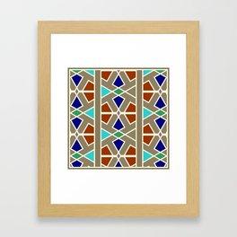 Islamic Moroccan Andalousie geometric wallpaper Framed Art Print