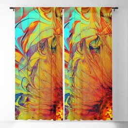 Sunflower Abstract Blackout Curtain