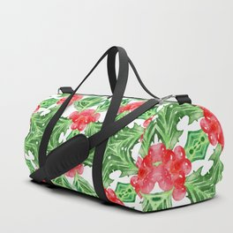 Holly Jolly Christmas Mandala (Large Pattern) Duffle Bag