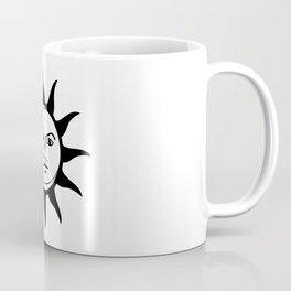 Sun and Moon Faces Vintage Coffee Mug