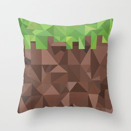 Geometric Dirt Block Throw Pillow