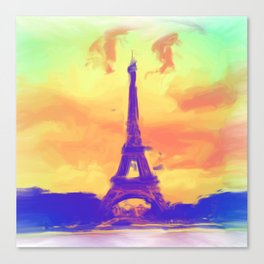 Sunset in Paris Canvas Print