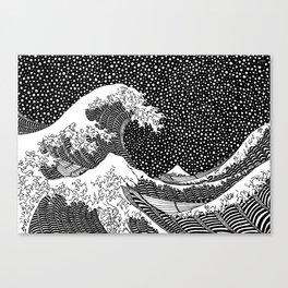 The wave of Hokusai Canvas Print