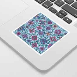 Summer Flowers Blue Sticker