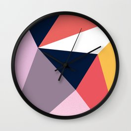 Modern Poetic Geometry Wall Clock