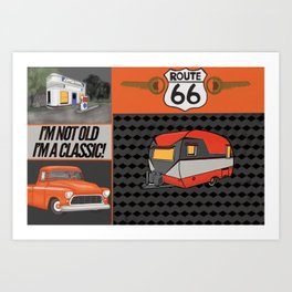 Route 66 Classic Living Art Print