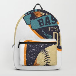 Baseball it's in my DNA Backpack