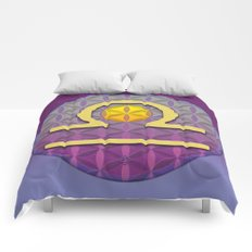 Flower of Life LIBRA Astrology Design Comforters